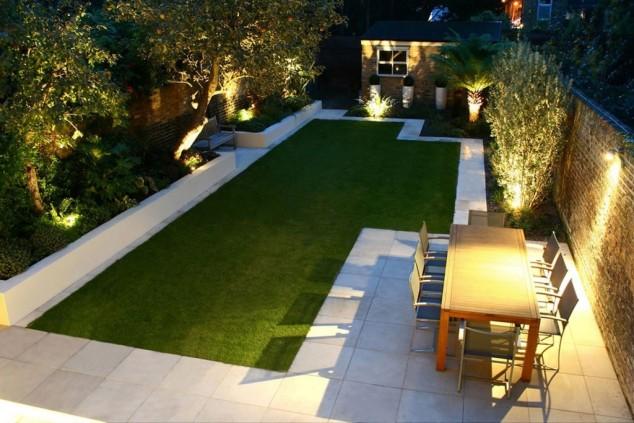 rectangular garden design outdoor