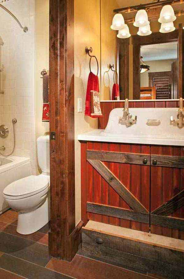 rustic bathroom sets 15 diy rustic bathroom decor ideas 14293