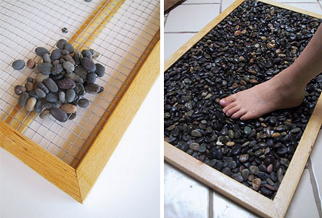 Creative DIY Shower Mats