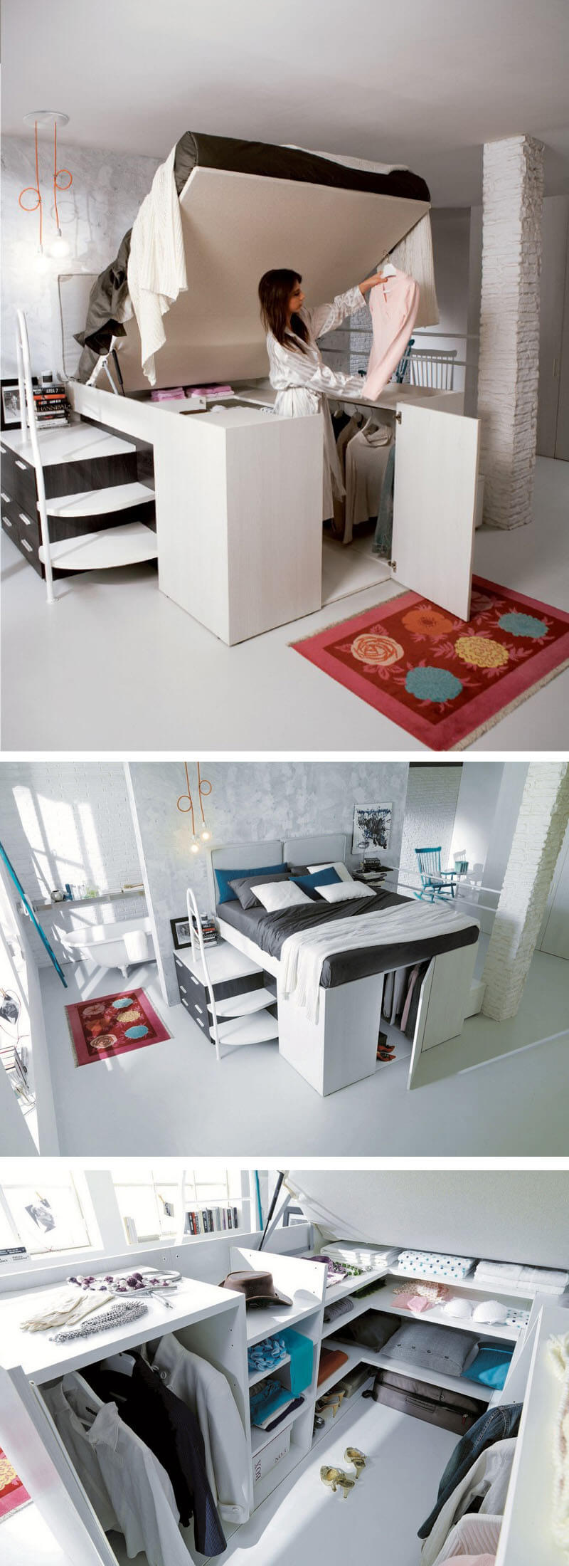 space saving small bedroom 9