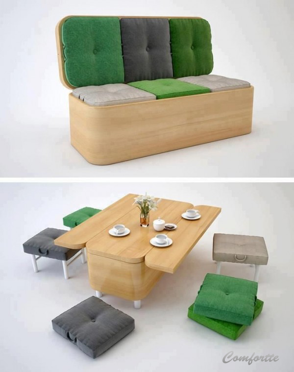 15+ Superb Space Saving Table Ideas