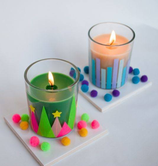 DIY Spring Candle Decorations