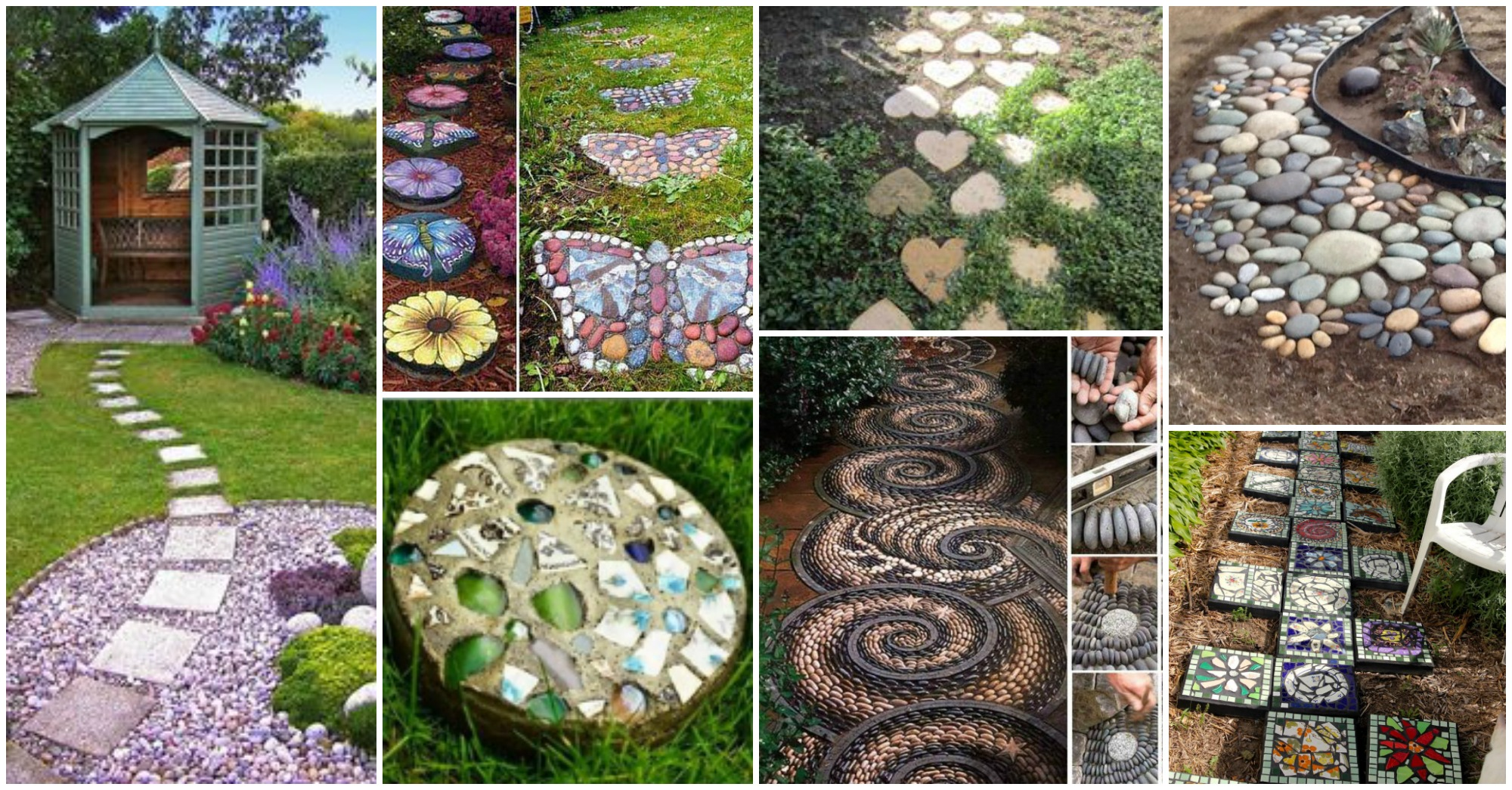 15 lovely decorative stepping stone for Decorative garden accessories