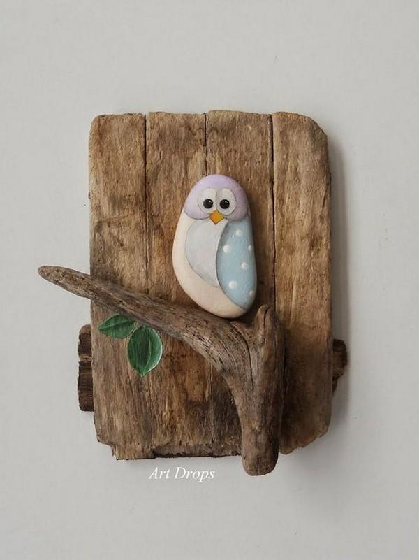 stone pebble crafts 1