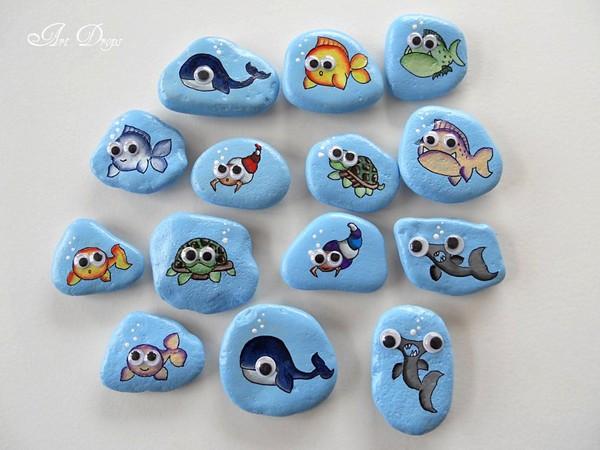 stone pebble crafts 4