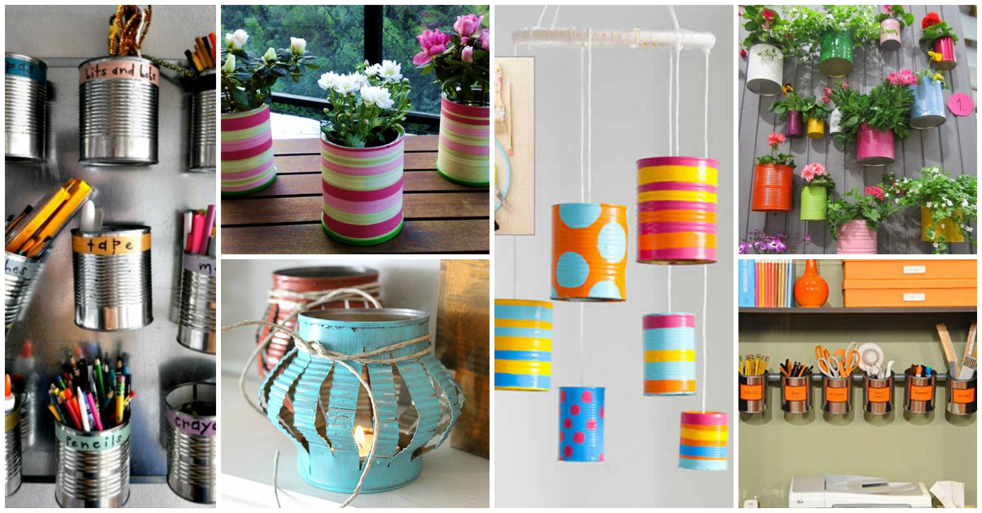 13 diy tin cans into adorable decor ideas for Home decor ideas from recycled materials