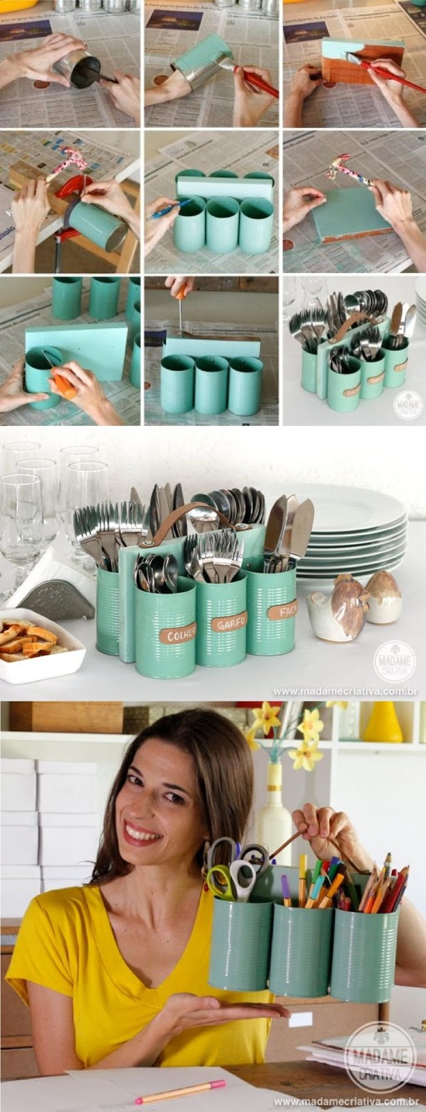 15+ Awesome DIY Ideas To Transform Tin Cans Into Practical Organizers