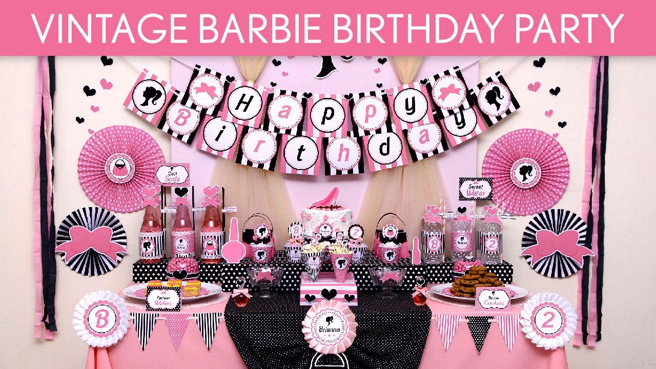 vintage barbie party