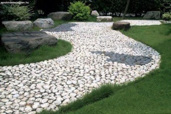 white pebble walkways 7