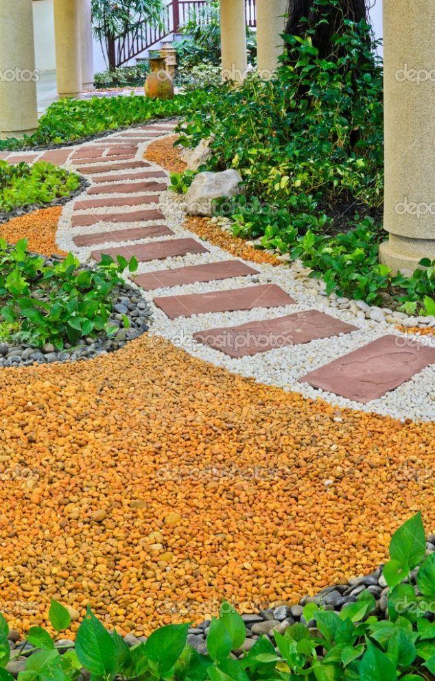 white pebble walkways 8