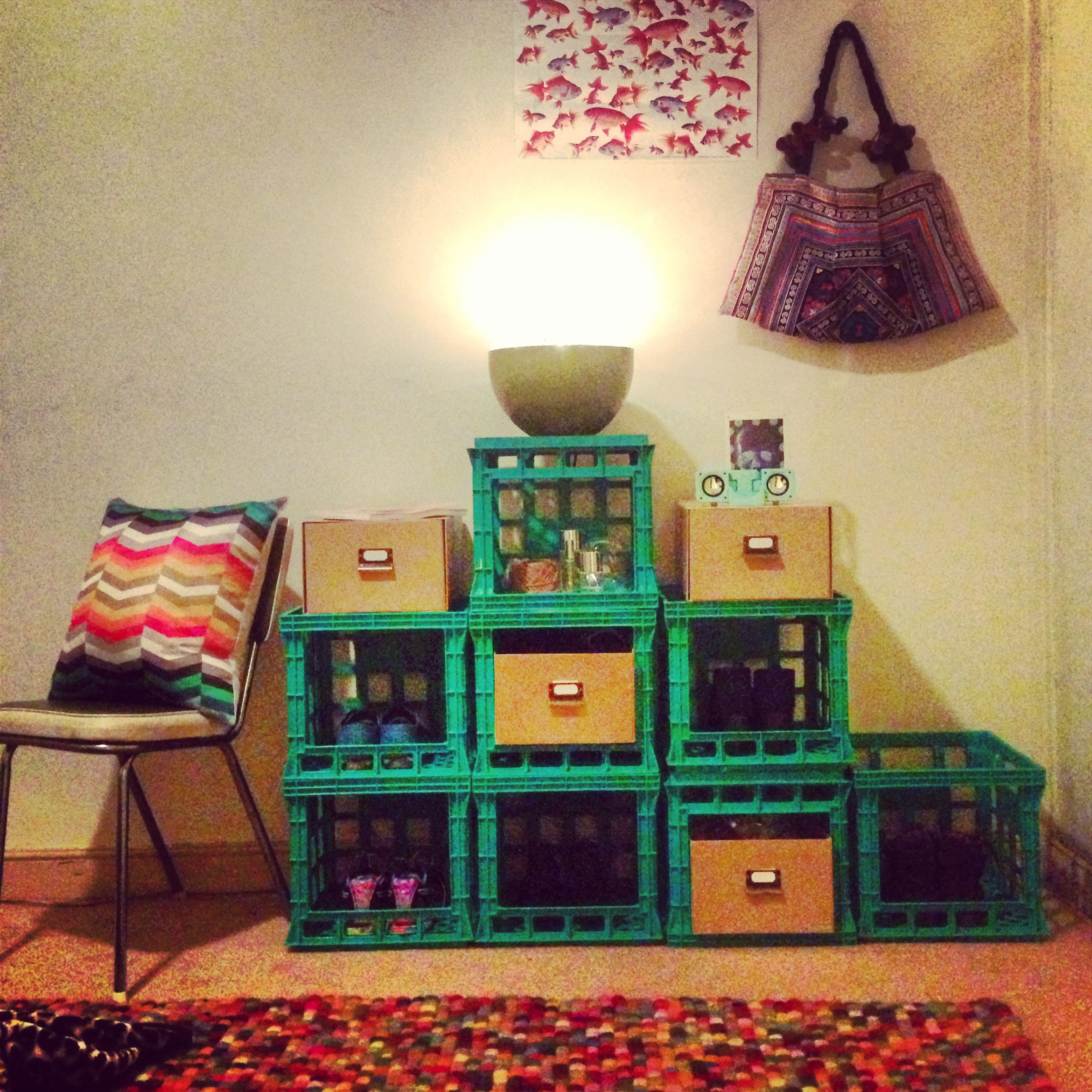 Amazing Wooden Crates Furniture Design Ideas