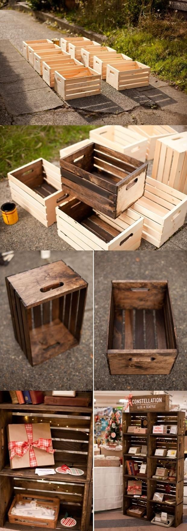 Pallet Kitchen Table With Storage
