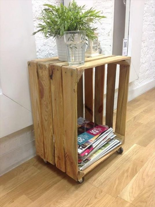 20 Diy Wooden Crates Furniture Design Ideas