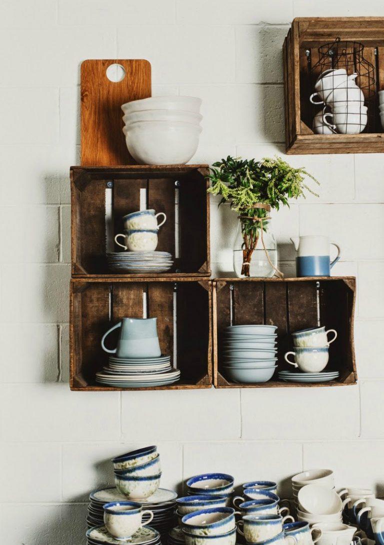 wooden crates in kitchen 1