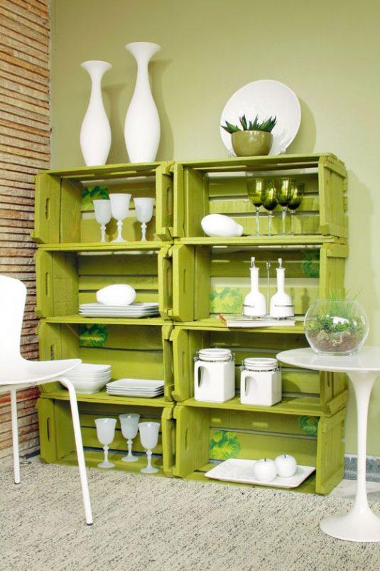 wooden crates in kitchen 10