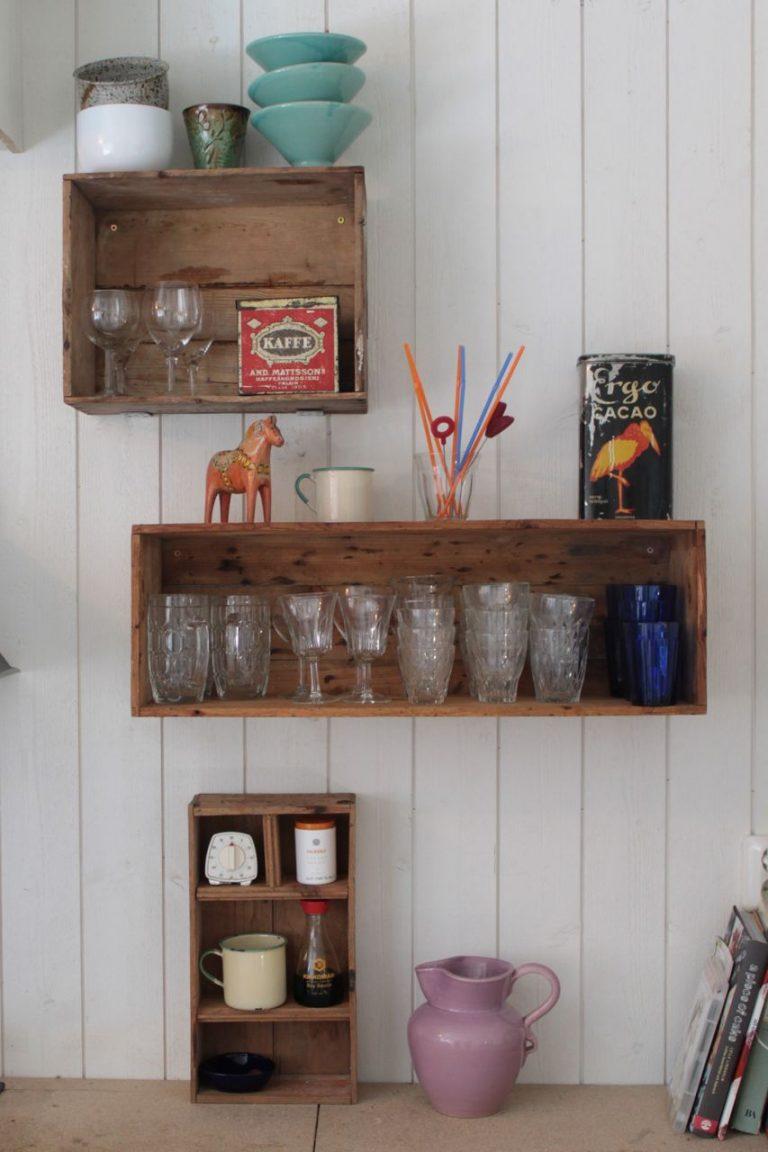 wooden crates in kitchen 11