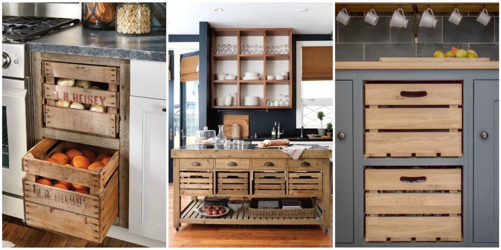 kitchen extra storage 15 wooden crates in kitchen a brilliant idea to add 1605