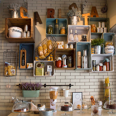 wooden crates in kitchen 14