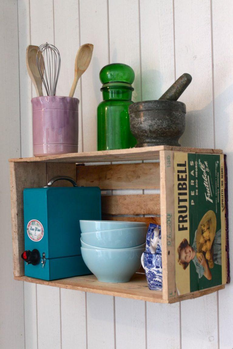 wooden crates in kitchen 7