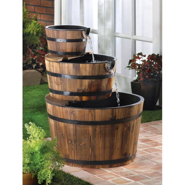 wooden garden fountains 1