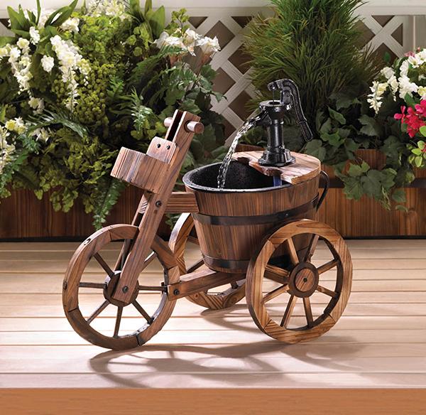 wooden garden fountains 10