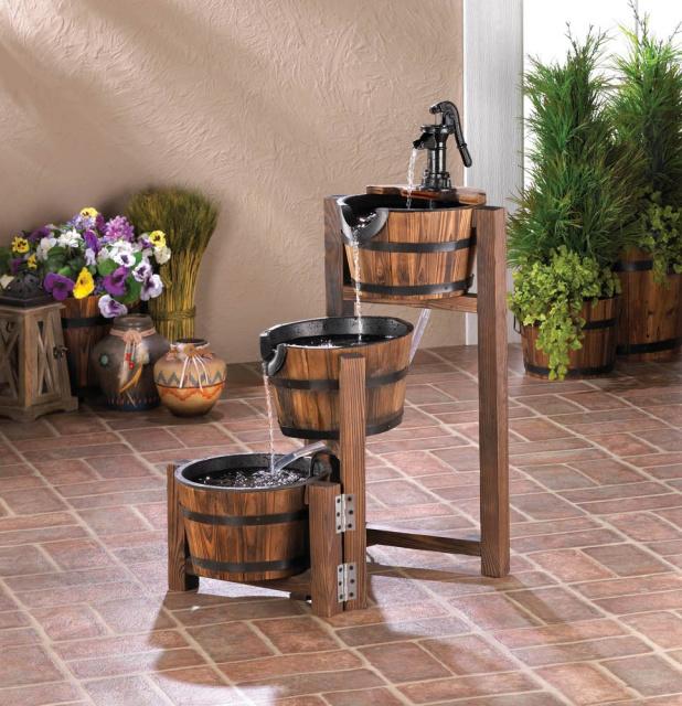 wooden garden fountains 11