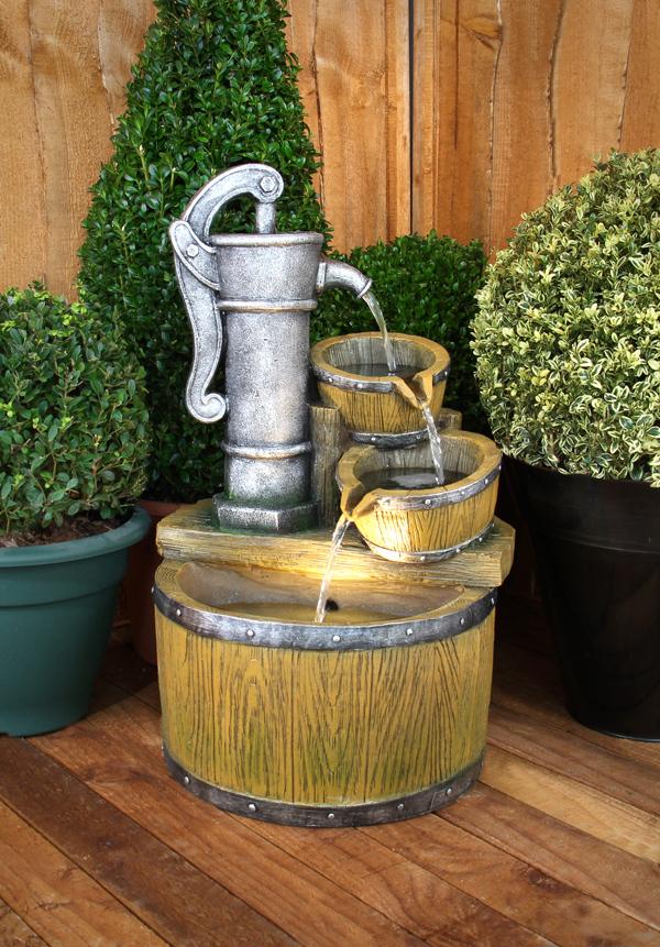 wooden garden fountains 14