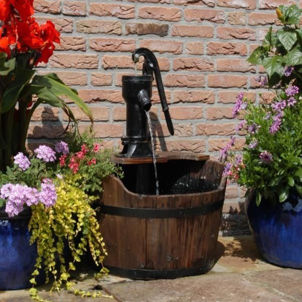 wooden garden fountains 15