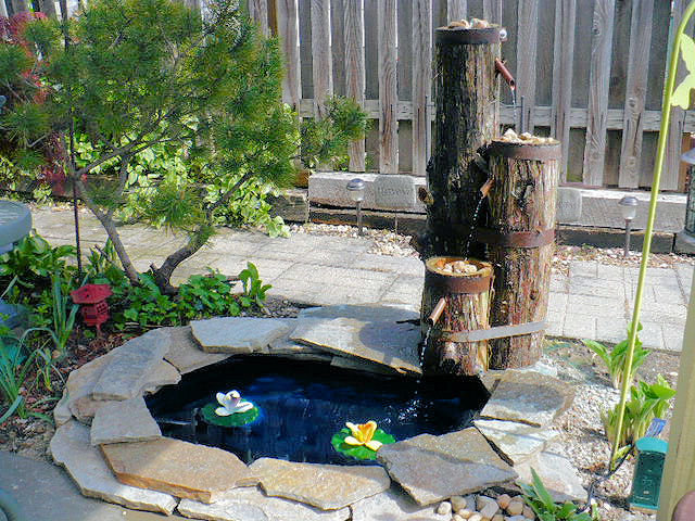 wooden garden fountains 18