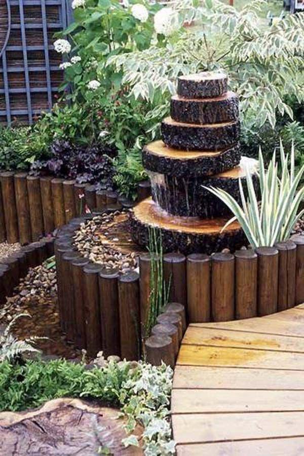 wooden garden fountains 19