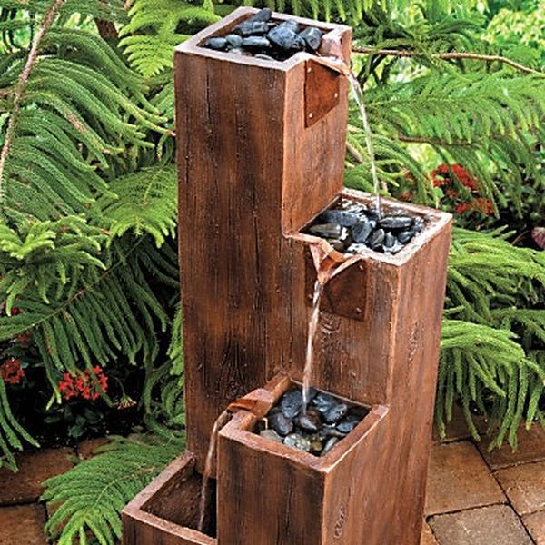 wooden garden fountains 2
