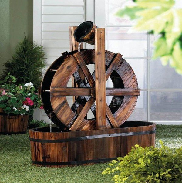 wooden garden fountains 5