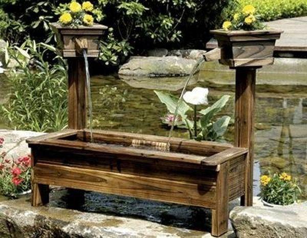 wooden garden fountains 8