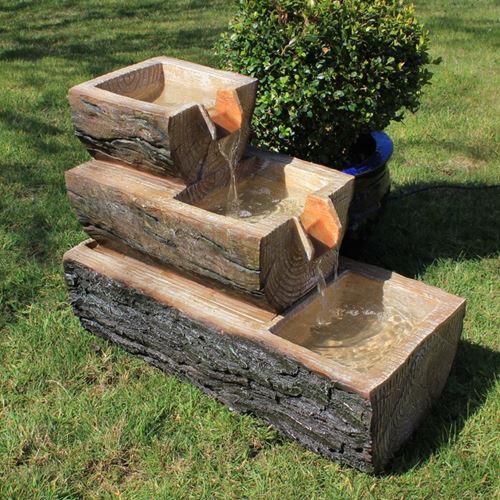 wooden garden fountains 9