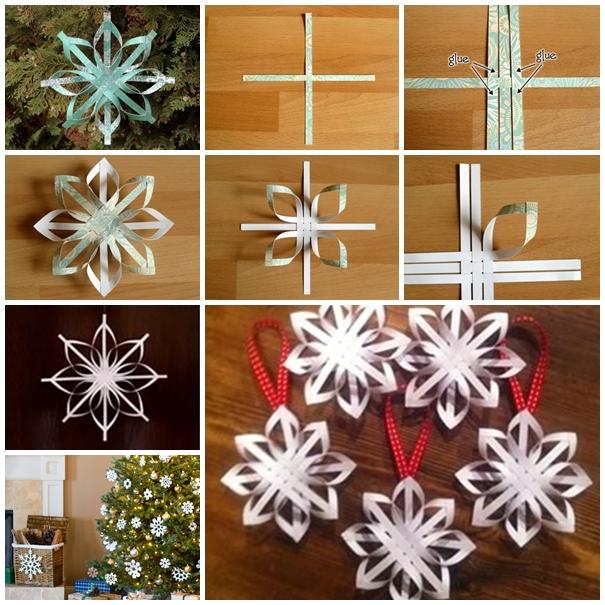 Diy Woven Paper Star Snowflake Ornaments
