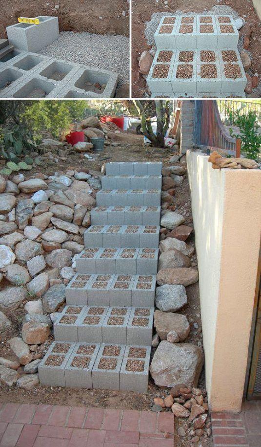 yard cinder block 2